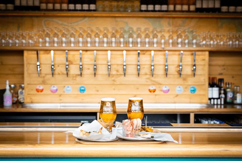 Salcombe Brewery bar at Rockfish